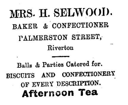 10.0. Selwood Riverton bakery advert October 1913