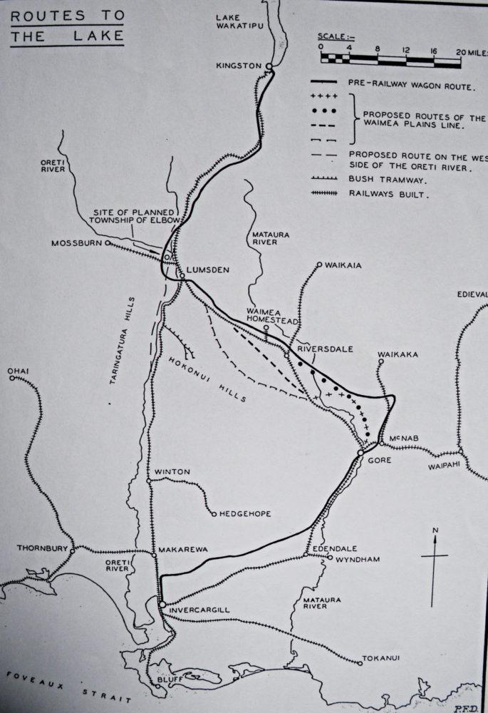 6.1 Railway lines connecting Lumsden