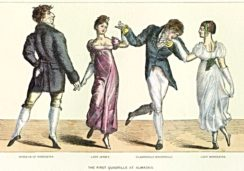 Quadrille a popular social dance in the 1880s-1910