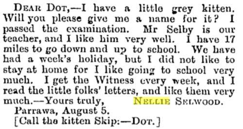 Dear Dot from Nellie Selwood