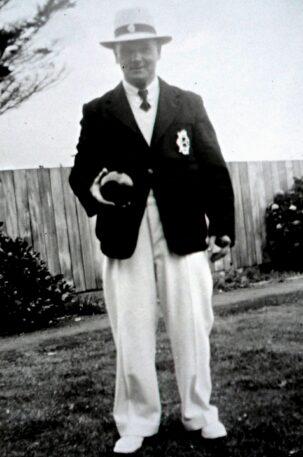 Charles Selwood a keen Linwood bowler
